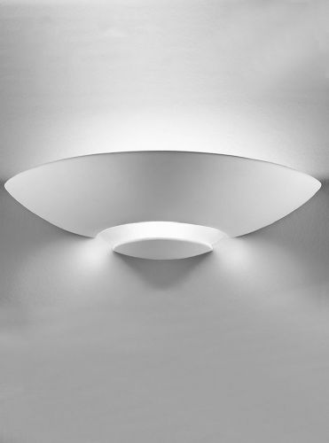 Franklite WB964 Ceramic - can be painted Wall Light (Class 2 Double Insulated)